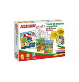 Alpino Activity Colorea Las Estaciones C/Pegatinas