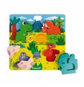 Chunky Puzzle Encajable Escondite Dinos