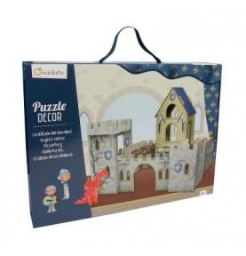 Puzzle Decor 3D Castillo y caballeros