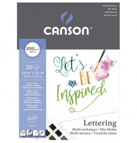 Block Lettering Mix Media Satin 20Hj Canson 200g