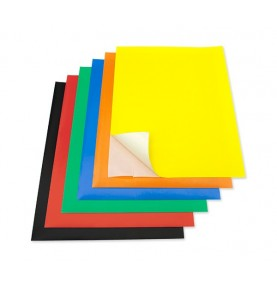 Pack 12 Hj Papel Charol Adhesivo A4 Colores