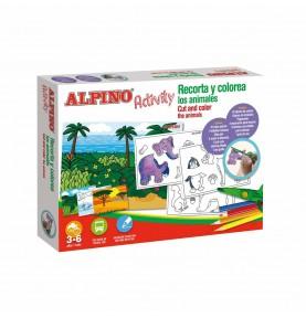 Alpino Activity Recorta y Colorea