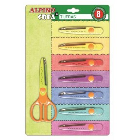 Blister Tijeras Fashion Shapes 8ud