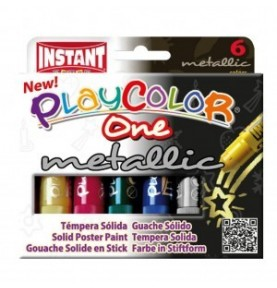 PLAYCOLOR ONE 6 COLORES METÁLICOS