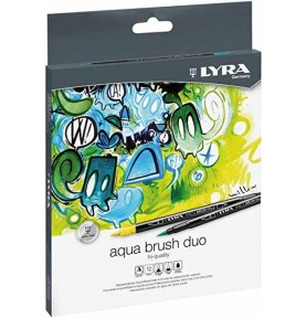 Pack Rotuladores Aqua Brush Duo Lyra 12ud
