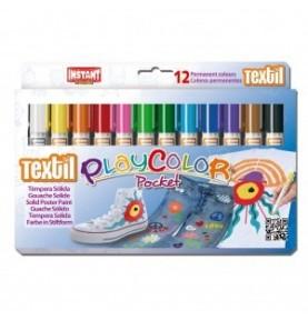 Playcolor Pocket Témpera Sólida Textil 6ud