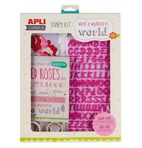 Diary Kit Scrapbooking Rosa