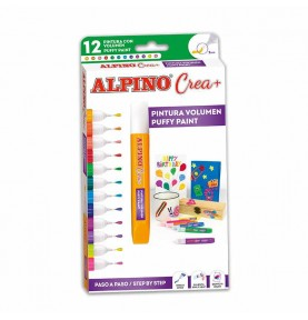Alpino Crea Puffy Paint 12ud