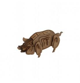 Maqueta Madera-Cerdo