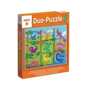 Duo-Puzzle Dinosaurios Ludattica